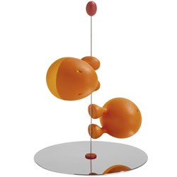 Солонка и перечница Liliput оранжевые, Alessi