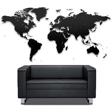 Пазл Mimi «Карта мира» черная 150х90 см