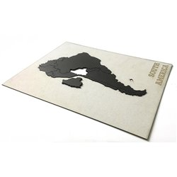 Пазл Mimi «Карта мира» черная 150х90 см, Mimi
