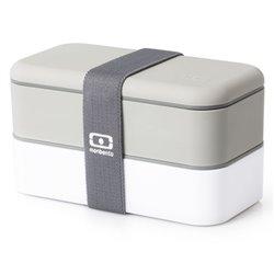 Ланч-бокс MB original серый/белый