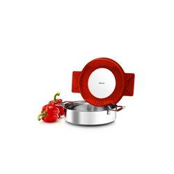 Сотейник с крышкой-фильтром gravity 24 см красный