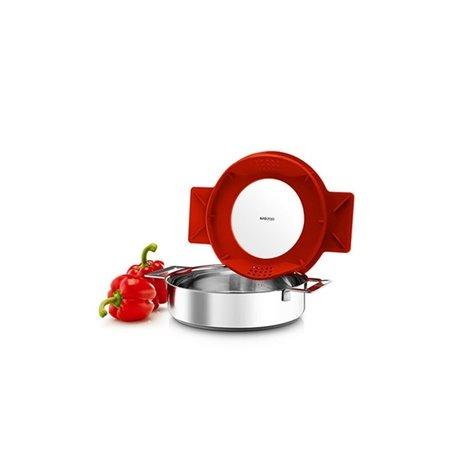 Сотейник с крышкой-фильтром gravity 24 см красный, Eva Solo