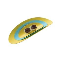 Набор из 3х стальных блюд Ellipse (бирюзовый & желтый), Alessi
