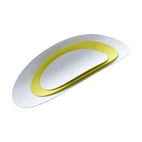 Набор из 3х стальных блюд ellipse (желтый & белый)