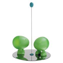 Солонка+перечница Lillipur зеленые, Alessi
