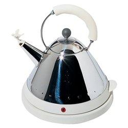 Чайник электрический со свистком белый, Alessi
