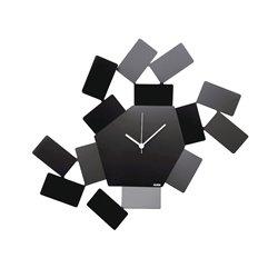 Часы настенные Stanza Scirocco черные, Alessi