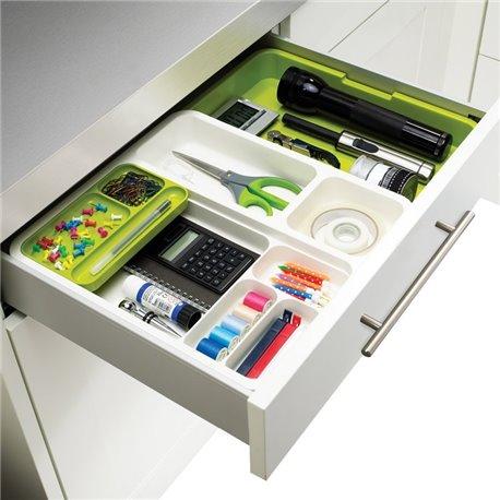 Органайзер для кухонных мелочей drawerstore™ раздвижной белый/зеленый