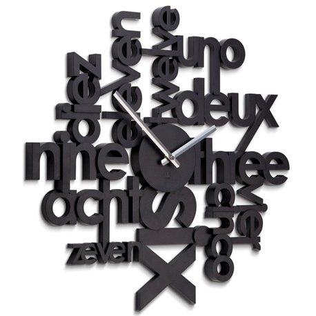 Часы настенные Umbra Lingua черные