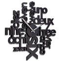 Часы настенные Lingua черные, Umbra