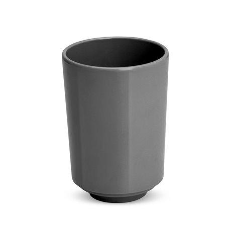 Стакан для ванной step тёмно-серый