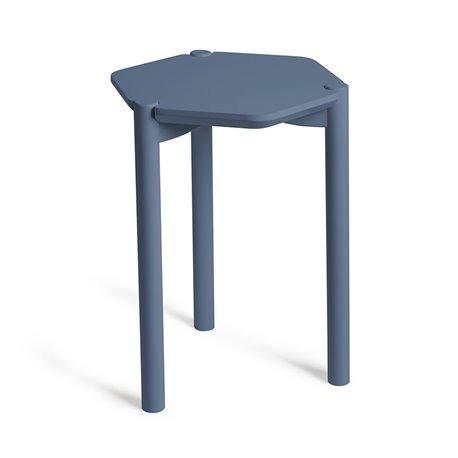 Столик журнальный hexa дымчато-синий