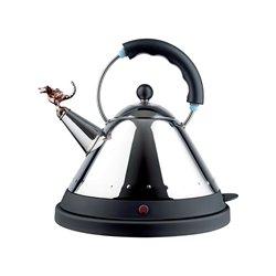 Чайник электрический со свистком Tea Rex черный, Alessi
