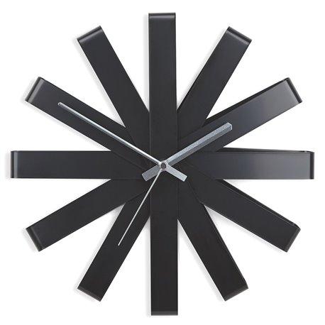 Часы настенные Ribbon черные