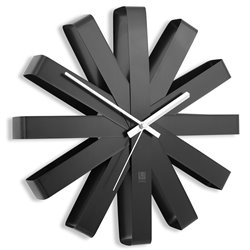 Часы настенные Ribbon черные, Umbra
