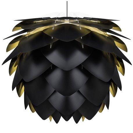 Плафон Silvia черный/золотой