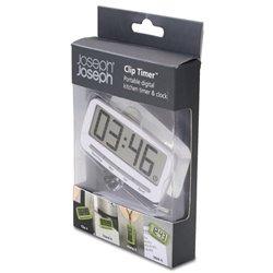 Таймер-часы кухонные на клипсе Clip Timer белый