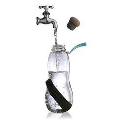 Эко-бутылка eau good с фильтром голубая , Black+Blum