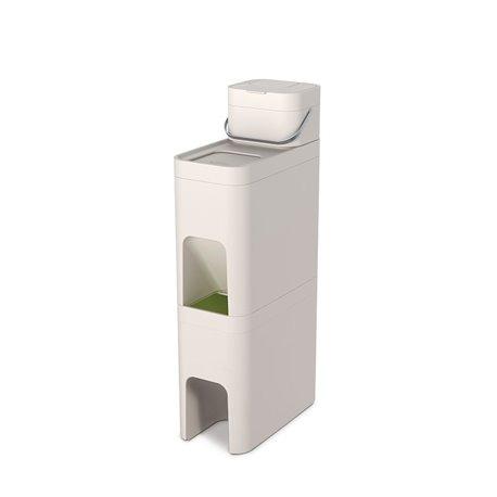 Система из 2 контейнеров для мусора и ёмкости для пищевых отходов stack 52 белый