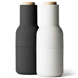 Мельницы для соли и перца Bottle mini карбон/белый