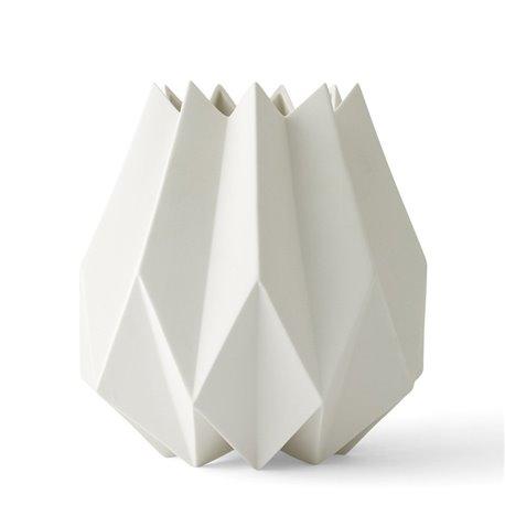 Ваза Folded 22 см белая