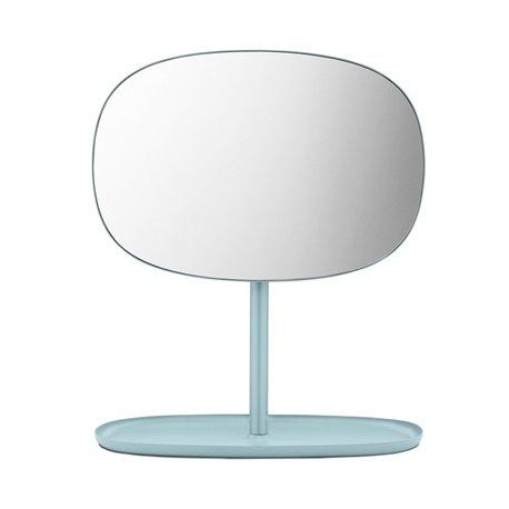 Зеркало настольное Flip голубое
