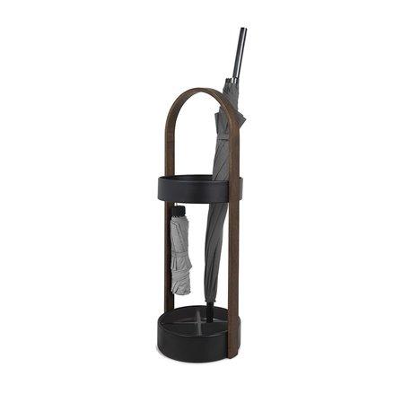 Подставка для зонтов hub чёрный/орех