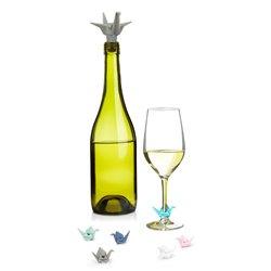 Набор из пробки для бутылки и маркеров для бокалов Origami, Umbra