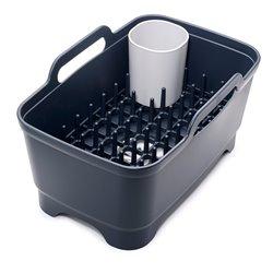 Набор из 3 предметов для мойки и сушки посуды (таз, сушилка, подставка для столовых приборов) серый, Joseph Joseph