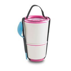 Ланч-бокс linch pot бело-розовый