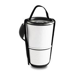 Ланч-бокс linch pot черно-белый