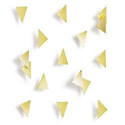 Декор для стен Confetti Triangles латунь, Umbra