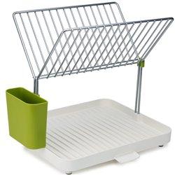 Сушилка для посуды и столовых приборов 2-уровневая со сливом y-rack белый/зеленый, Joseph Joseph