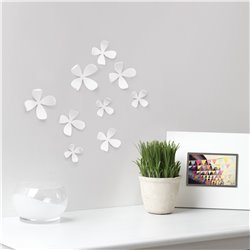 Декор для стен Wallflower 10 элементов белый, Umbra