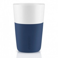 Чашки для латте 2 шт тёмно-синие