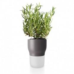 Горшок для растений с функцией самополива 11 см серый , Eva Solo