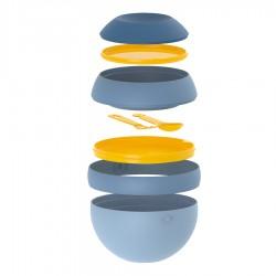 Ланч-бокс Zero для салатов синий