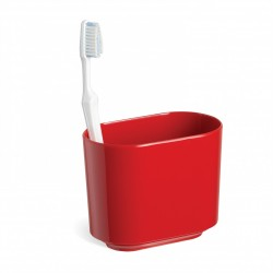 Стакан для зубных щеток Step красный