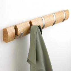 Вешалка Flip натуральная 5 никелевых крючков, Umbra