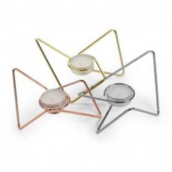 Набор из 3-х подсвечников Loop Maison хром-медь-золото, Black+Blum