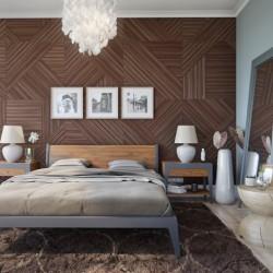 Кровать Fly орех,140 см, BraginDesign