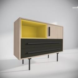 Модуль-E желтый, черный, BraginDesign