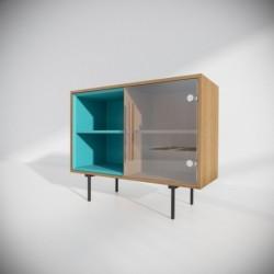 Модуль-С бирюзовый тонировка, прозрачный, BraginDesign
