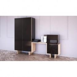 Шкаф EcoComb-1, черный, BraginDesign