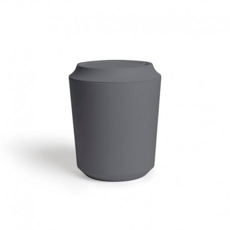 Корзина для мусора с крышкой corsa тёмно-серая, Umbra