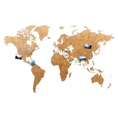 Пазл «карта мира» коричневая 150х90 см, Mimi
