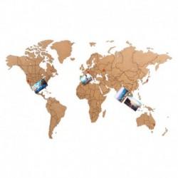 Пазл «карта мира» коричневая 100х60 см, Mimi