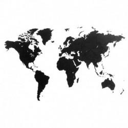 Пазл «карта мира» черная 100х60 см, Mimi