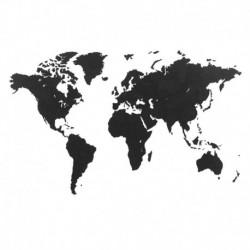 Пазл «карта мира» черная 150х90 см, Mimi