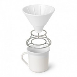 Набор Perk для заваривания кофе методом пуровер белый, Umbra